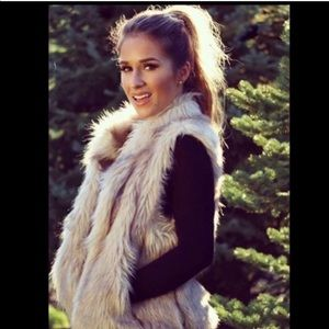 Kittenish faux fur vest